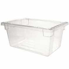 "Clear  Polycarb 18"" x 12"" x 3.5""  2 gal. Rubbermaid Food Boxes"