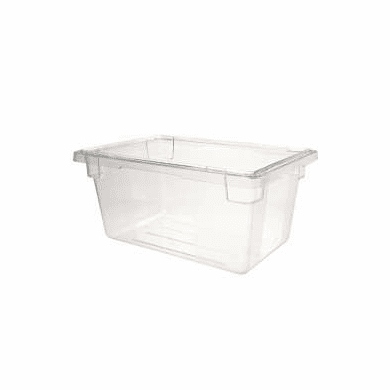 """Clear  Polycarb 18"""" x 12"""" x 3.5""""  2 gal. Rubbermaid Food Boxes"""