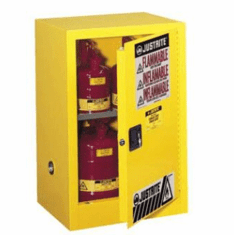 Compact Safety Cabinets  22 gallon  2-door self-close  35 x 35 x 22