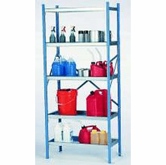 Industrial Containment Storage Shelves | 4 Shelf System | 36 Inch X 18 Inch X 84 Inch