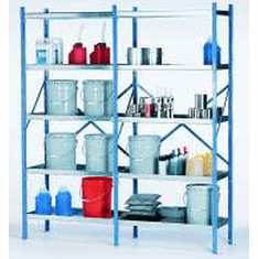 Industrial Containment Storage Shelves | 8 Shelf System | 72 x 18 x 84