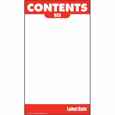 Content Labels, 10 Pack, For Oil Safe® Color Coded Lids