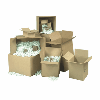 "Corrugated Cardboard Boxes 30"" x 14"" x 10"", 20 Count"