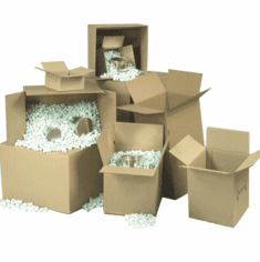 "Corrugated Cardboard  Boxess 7"" x 5"" x 4"", 25 Count Bundle"