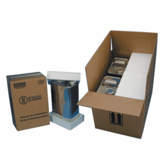 Corrugated Cardboard Hazmat 4G Packaging with Foam and F-Style Cans 2-1 Gallon Cans