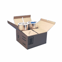 Corrugated Cardboard Hazmat 4G Packaging without Foam for Gallon Paint Cans 4-1 gallon