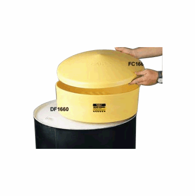 Cover Drum Funnel Contains Splashes and Spills