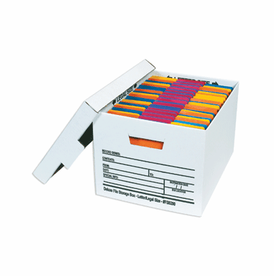"""Deluxe Cardboard Corrugated File Storage Boxes 24"""" x 12"""" x 10"""", 12 Case Pack"""