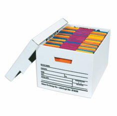 Deluxe Cardboard Corrugated File Storage Boxes