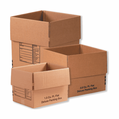 Deluxe Cardboard Corrugated Packing Moving Boxes,16x12x12,25 Pack