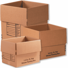 Deluxe Cardboard Corrugated Packing Moving Boxes, 24x18x18,10 Pack