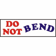 Do Not Bend, mailing label