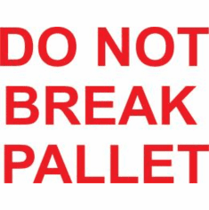 Do Not Break Pallet 3 x 5  500 Pack