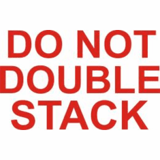 Do Not Double Stack 2 x 3  500 Pack