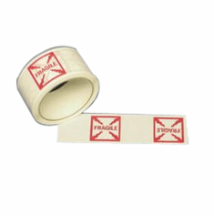 Double Duty Printed Message Tape  Fragile (Goblet)   36 Rolls