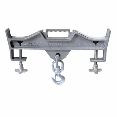 """Double Fork Mount, Single Hook - 7-1/2"""" - Turn Your Forklift Truck into a Hoist"""