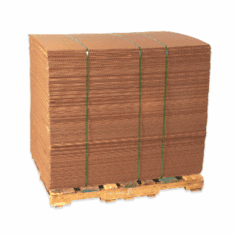 """Double Wall Corrugated Cardboard Sheets 48"""" x 48"""", 10 Bundle Pack"""