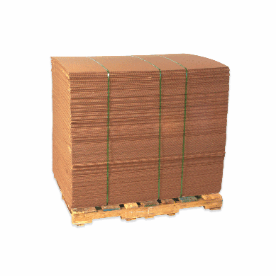 """Double Wall Corrugated Cardboard Sheets 48"""" x 96"""", 10 Bundle Pack"""