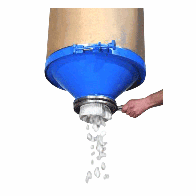 Drum Cone Top for Dry Material Dumping 55 Gallon Steel Drums