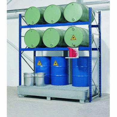 Drum Containment Rack Systems  12 Drum,82 Gal Sump