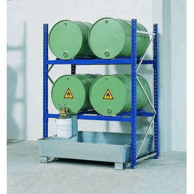 Drum Containment Rack Systems - 4 Drum,66 Gal Sump