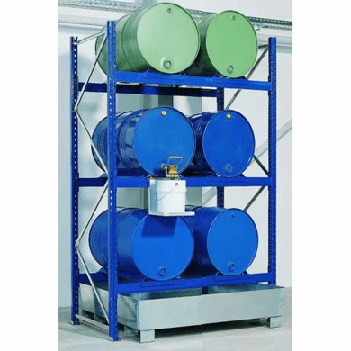 Drum Containment Rack Systems  6 Drum, 66 Gal Sump