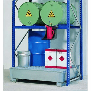 Drum Containment Rack Systems - 6 Drum,66 Gal Sump
