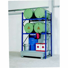 Drum Containment Rack Systems - 8 Drum, 66 Gal Sump