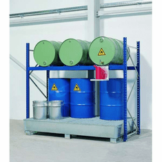 Drum Containment Rack Systems 9 Drum,82 Gal Sump