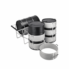 "Drum Cradle Style, Carbon Heat or Cool 55 Gallon Drums 5"" Wheels"