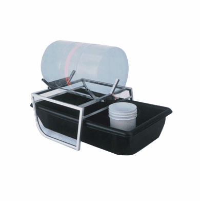 Drum Cradle with Secondary Containment Drum with tub