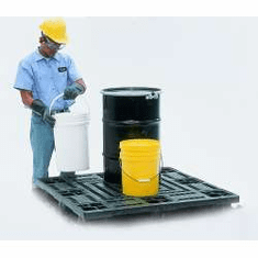 Drum pallet only 48 x 48 x 6 3/4 For SpillKing Spill Containment System