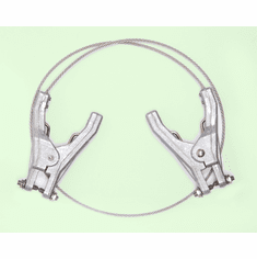 Dual Plier Clamps Grounding Bonding Wires Prevent Static Sparks 3'