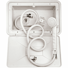 """Dura Faucet  DF-SA170-WT - Plastic White Exterior Shower Box Kit<font color=""""Red""""> Free Shipping</font>"""