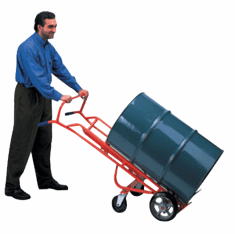 Easy to Maneuver Drum Truck with Swivel Casters, Moldon Rubber