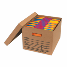 Economy Cardboard Corrugated File Storage Boxes