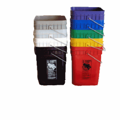 """Economy Square 4 Gallon Plastic Buckets <strong> <font color=""""#FF0000"""">Free Shipping This Item!</font></strong>"""