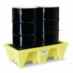 Enpac In-Line Spill Pallets Save Floor Space 2-Drum No Drain