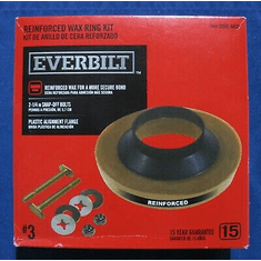 "Everbilt Reinforced Wax Ring with Bolts #3 OverStock<br><font-color=""#008000""->Free-Shipping</font>"