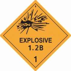 Explosive 1.2B 1 D.O.T Label, As Low As .6&cent Each