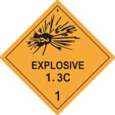 Explosive 1.3C 1 D.O.T. Label, As Low As .6&cent Each