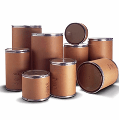 Fiber Drums|  Corrugated Cardboard Barrels | Open Head | Plastic Lid | Free Shipping