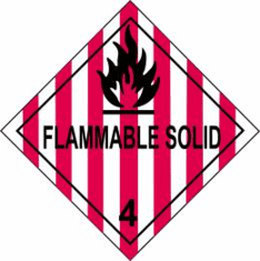Flammable Solid 4 D.O.T Label, As Low As .6&cent Each