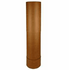Fluorescent Light Recycling Fiber Corrugated Cardboard Drum Tube Boxes | 4 Foot | 4 Pk
