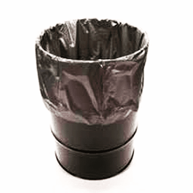 Fold-Back, 55 Gallon, 6 mil - Straight Bottom Flexible Drum Liners,50 Pack