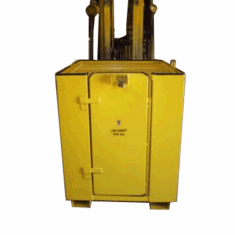 Forkliftable Work Platform Tool Locker