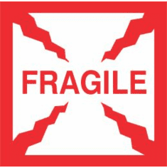 Fragile 2 1/2 x 2 1/2  500 Pack