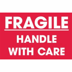 Fragile, Handle With Care 4 x 6  500 Pack