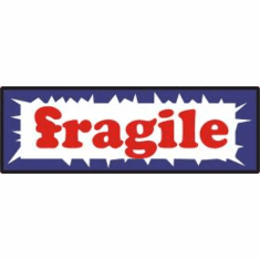 Fragile, mailing label