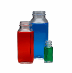 French Square Glass Jars
